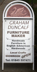 Graham Duncalf Furniture Maker - sign